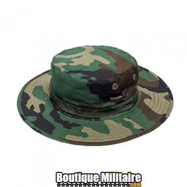 Chapeau militaire • Camo forêt