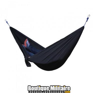 Hamac en toile de parachute 210T • 2 personnes • 270x140 cm • Noir Uni