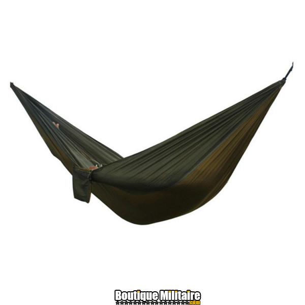 Hamac en toile de parachute 210T • 2 personnes • 270x140 cm • Noir et Marron