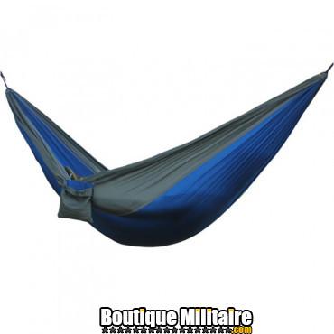 Modifier : Hamac en toile de parachute 210T • 2 personnes • 270x140 cm • Bleu foncé et Gris