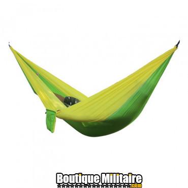 Hamac en toile de parachute 210T • 2 personnes • 270x140 cm • Jaune et Vert