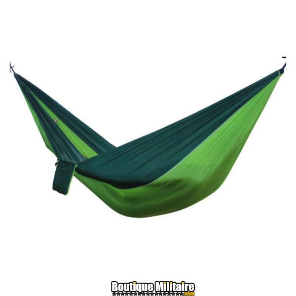 Hamac en toile de parachute 210T • 2 personnes • 270x140 cm • Vert foncé et Vert claire