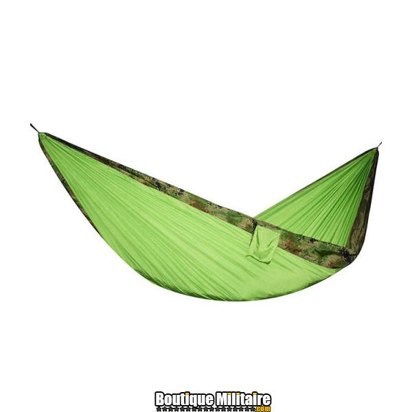 Hamac en toile de parachute 210T • 2 personnes • 270x140 cm • Camo Forêt et Vert