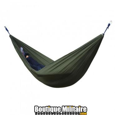 Hamac en toile de parachute 210T • 2 personnes • 270x140 cm • Vert Armée