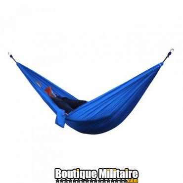 Hamac en toile de parachute 210T • 2 personnes • 270x140 cm • Bleu Uni
