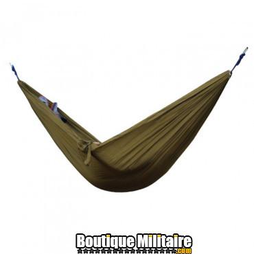 Hamac en toile de parachute 210T • 2 personnes • 270x140 cm • Marron Uni