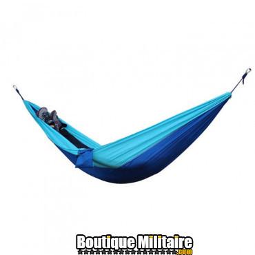 Hamac en toile de parachute 210T • 2 personnes • 270x140 cm • Bleu claire et Bleu foncé