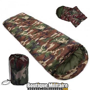Sac de couchage militaire • 190x75 cm • Camo Forêt