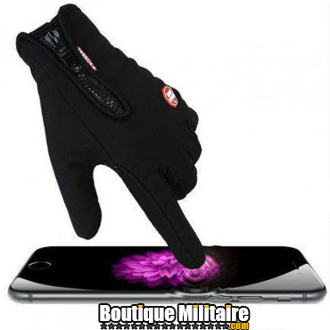 Paire de gants multi-usages • Tactile mobile • Noir Uni