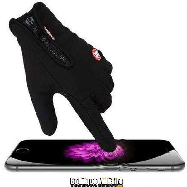 Paire de gants multi-usages • Tactile mobile • Noir Uni