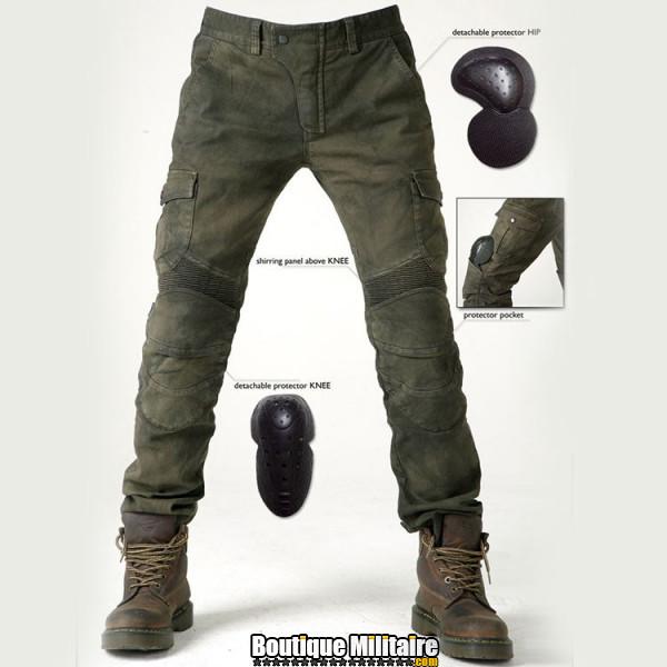 Pantalon treillis airsoft • 4 Coques de protections • Vert Armée