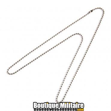 Chaine, longue, pour plaque militaire