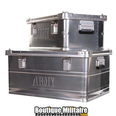 Lot de 2 caisses en aluminium