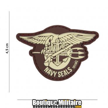 Patch 3D PVC Navy seals marron 18020