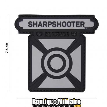 Patch 3D PVC Sharpshooter gris 18019