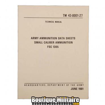 Livre 7 , manuel militaire munitions petit calibre 06/1981