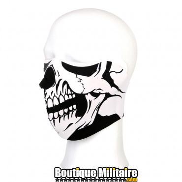 Demi masque motard crane blanc