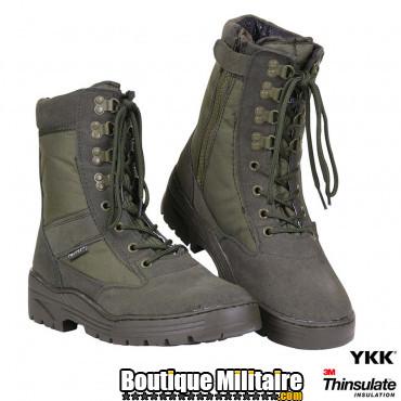 Pr. chaussures de sniper avec zipp YKK