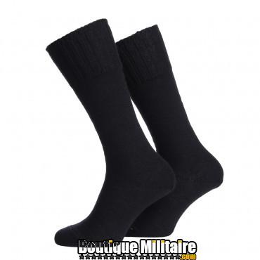 Chaussettes armée hollandaise 30% laine coloris noir
