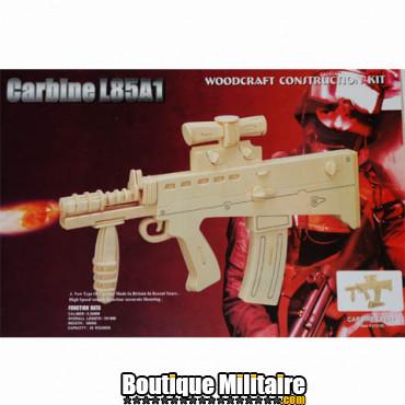Puzzle en bois, carabine L85A