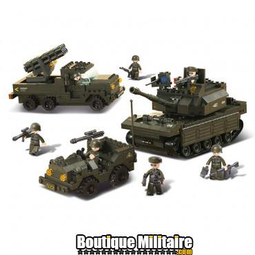 Sluban - Set véhicules militaires . M38-B6800