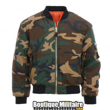Bomber Veste aviation camouflage MA-I