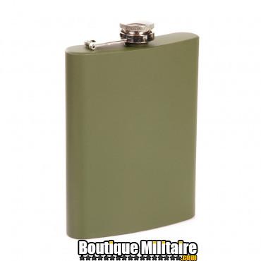 Flasque en métal, 8 oz verte