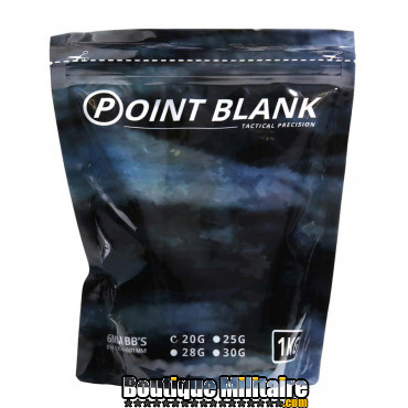 Billes - Airsoft - 0.20g Point Blank 1Kg