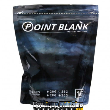 Billes - Airsoft - 0.25g Point Blank 1Kg