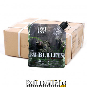 Carton de 20 sacs de billes - Airsoft extreme 0.25g. 6mm