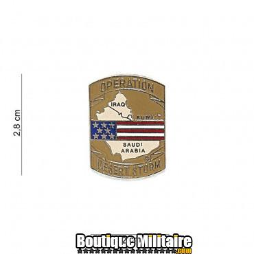 Badge - desert storm pin 7077