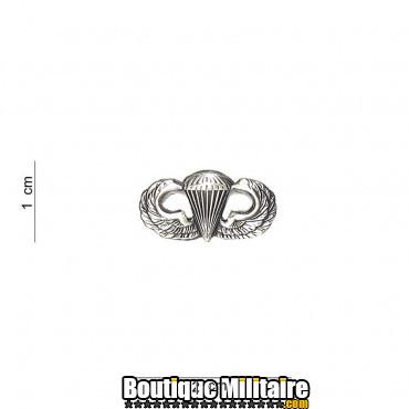 Badge - para wing small silver 7058
