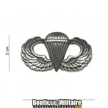 Badge - para wing large silver 7075