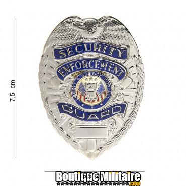 Badge - security enforcement - argent 6015