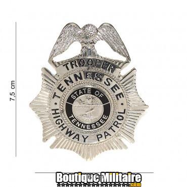 Badge - trooper tennessee high way patrol - argent 7022