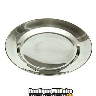Assiette acier stainless