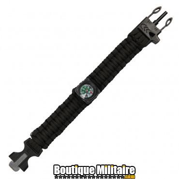 Bracelet Paracord survie avec boussole - 9 inch JYFPB03
