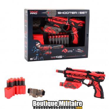Pistolet Tack Pro livré avec 14 fléchettes 18 cm 55