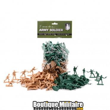 Grand sac de soldats en plastique