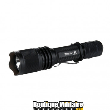 Lampe tactique - PowerTac . Warrior-R USB rechargeable kit