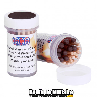 BCB Allumettes imperméables 1 boite x 25 pcs. CN327A