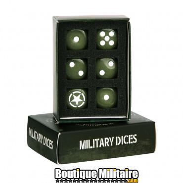 Set de dès militaires - 6 pcs