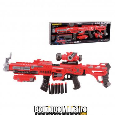 Pistolet jouet Tack Pro Sniper avec 20 fléchettes