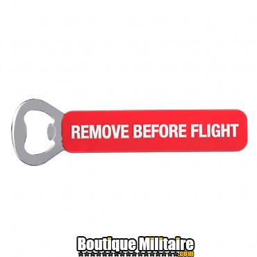 Ouvre-bouteille en acier - Remove Before Flight