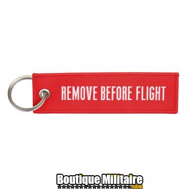Porte-clés en tissus - remove before flight