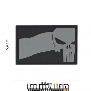 Patch 3D PVC Punisher NL flag grey 8086