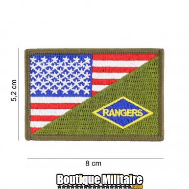 Patch en tissus Rangers half flag 20013
