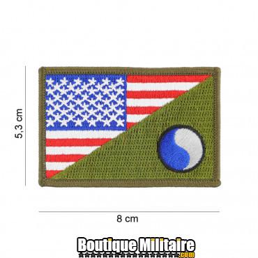 Patch en tissus 29th Infantry half flag 20014