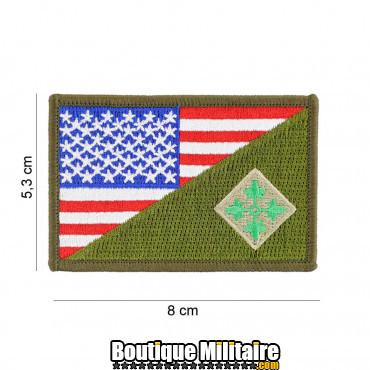 Patch en tissus 4th Infantry half flag 20016