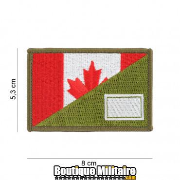 Patch en tissus Canada half flag 20017